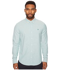 Original Penguin New Long Sleeve Oxford Stretch Shirt Shady Glade Long Sleeve Button Up Green