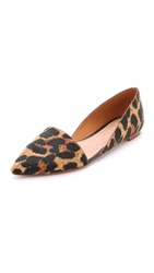Madewell The Kendra D'orsay Haircalf Flats Leopard Tan Multi