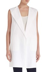 Women's Lafayette 148 New York 'Celeste Lavish Linen' Vest White