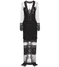 Tom Ford Macrame Lace And Tulle Dress Black