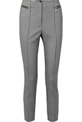 Opening Ceremony Gingham Cady Skinny Pants Gray