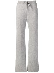 Bottega Veneta Regular Fit Lounge Trousers Grey