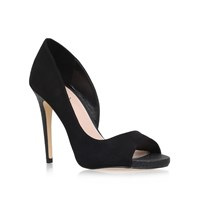 Lipsy Bethan High Heel Peep Toe Court Shoes Black