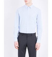 Joseph Regular Fit Brushed Cotton Shirt Sky