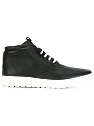 Salvatore Ferragamo Ridged Sneaker Detail Boots Black