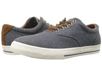 Polo Ralph Lauren Vaughn Dark Chambray Vintage Burlap Sport Suede Men's Lace Up Casual Shoes Gray