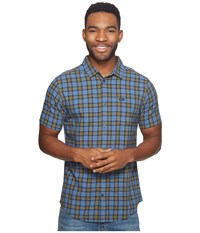 Rvca That'll Do Plaid 3 Shirt Burnt Olive Men's Long Sleeve Button Up