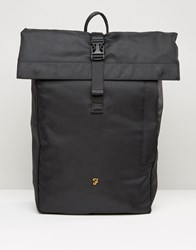 Farah Roll Top Backpack In Black Black