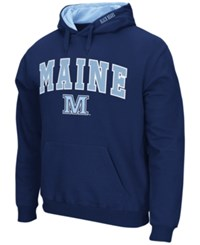 Colosseum Men's Maine Black Bears Arch Logo Hoodie Navy