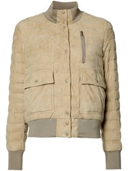 Moncler Quilted Puffer Jacket Brown