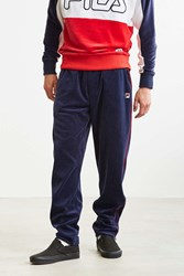 Fila Contrast Piping Velour Track Pant Navy