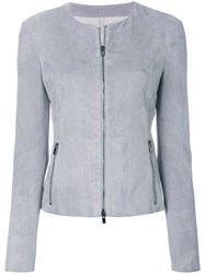 Drome Zipped Fitted Jacket Blue