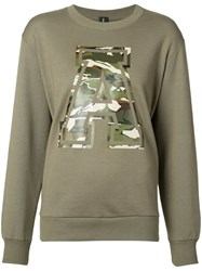 Alexandre Vauthier 'A' Sweatshirt Women Cotton 2 Green