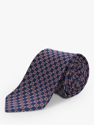 Chester Barrie By Celtic Floral Silk Tie Blue