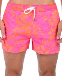 2Xist 2 X Ist Tie Dye Floral Swim Trunks Fuscia Purple