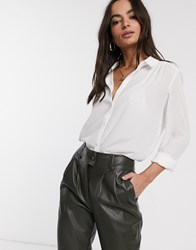 Vila Shirt With Shoulder Detail In White