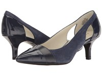 Anne Klein Firstclass Navy Combo Leather Women's Shoes