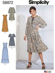 Simplicity Misses' Pullover Dress Sewing Pattern 8872