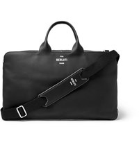 Berluti Cube Piped Leather Holdall Black