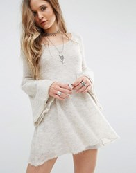 Free People Babydoll Sweater Dress Cream
