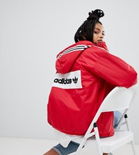 Adidas Originals Stadium Coat In Red