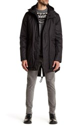 Hunter Hooded Long Sleeve Outerwear Parka Jacket Black