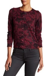 Zadig And Voltaire Ninon Print Cashmere Cardigan Red