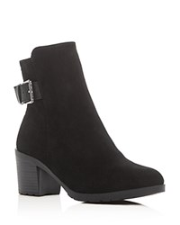 Gentle Souls Flora Waterproof Mid Heel Booties Black