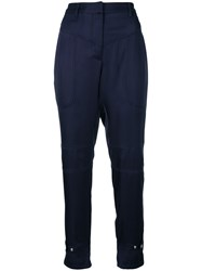 Barbara Bui Tailored Fitted Trousers Blue