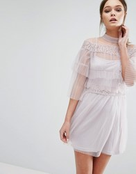 True Decadence Tulle Mini Dress In Layering Pink