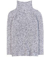 Alexander Wang Cotton Wool And Mohair Blend Turtleneck Sweater Black