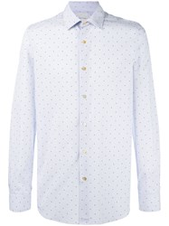 Paul Smith Polka Dot Print Shirt Blue