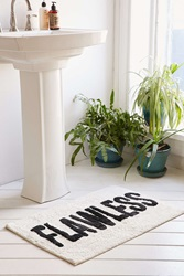 Urban Outfitters Flawless Bath Mat Black And White