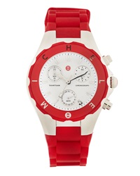 Michele Tahitian Jelly Bean Watch Red