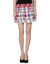 Atelier Fixdesign Skirts Mini Skirts Women Red