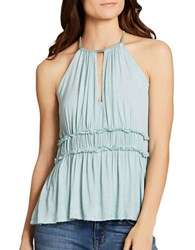 Jessica Simpson Bentley Halterneck Sleeveless Top Lichen