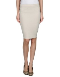 Gentryportofino Knee Length Skirts Light Grey