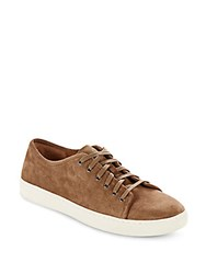 Vince Distressed Suede Sneakers Truffle
