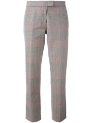Paul Smith Ps By Checked Cigarette Trousers Nude Neutrals