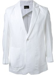 Thamanyah Patch Pocket Deconstructed Blazer White