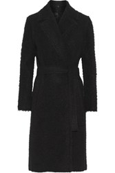 Helmut Lang Belted Boucle Wool Coat Black