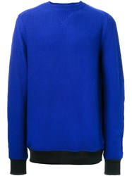 Sacai Textured Sweater Blue