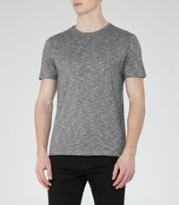 Reiss Peaky Mens Patterned T Shirt In Grey
