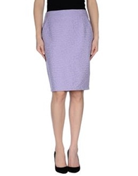 Roccobarocco Knee Length Skirts Lilac