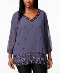 American Rag Plus Size Embellished V Neck Blouse Only At Macy's