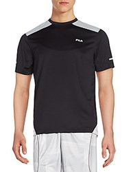 Fila Advance Colorblock Performance Tee Black