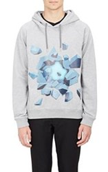 Christopher Kane Ice Explosion Graphic Hoodie Grey
