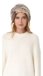 M.Patmos Herman Knit Fur Hat Natural