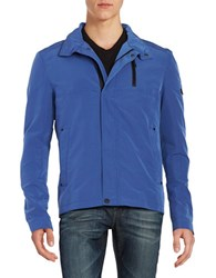 Strellson Zip Front Sport Jacket Bright Blue
