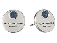 Marc Jacobs Mj Coin Studs Earrings Blue Silver Earring Navy